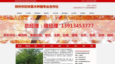 贺邳州市巨林苗木种植专业合作社改版全新上线!
